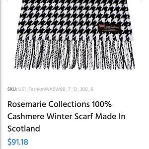 Accessories - 100% Cashmere Scarf